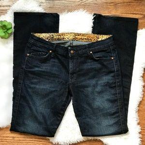 Rich & Skinny bootcut dark wash jeans in nightfall